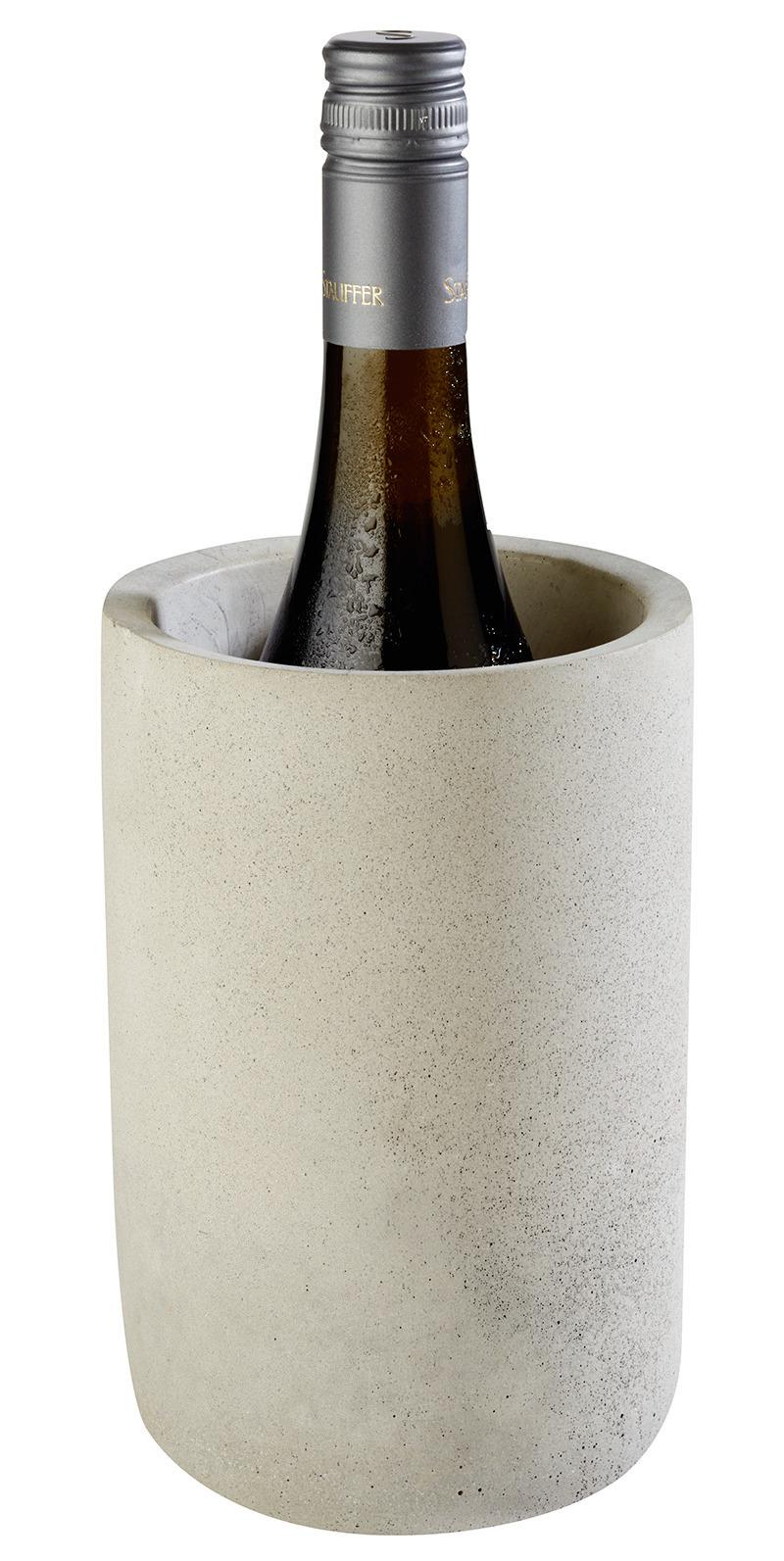 Flaschenkühler 120 x 120 x 190 mm Beton mit möbelschonender Unterseite