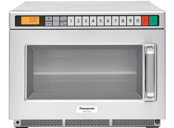 Panasonic-Mikrowelle NE-2153-2 2100 W 18 l mit Zwischenplatte mit Tastenfeld