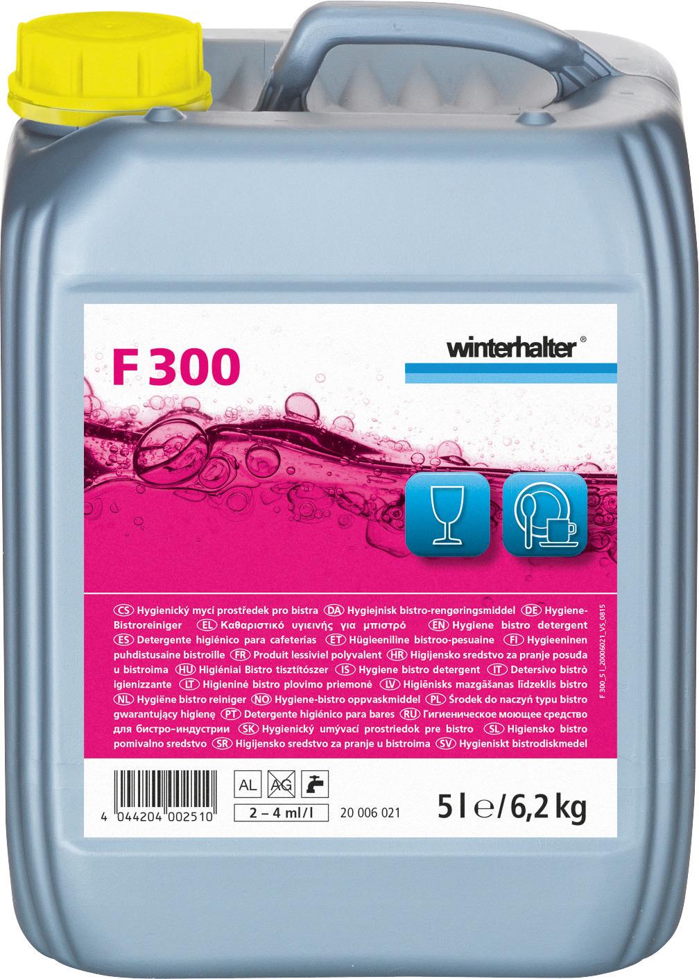 Hygiene-Bistroreiniger F 300 / 5,00 l Kanister
