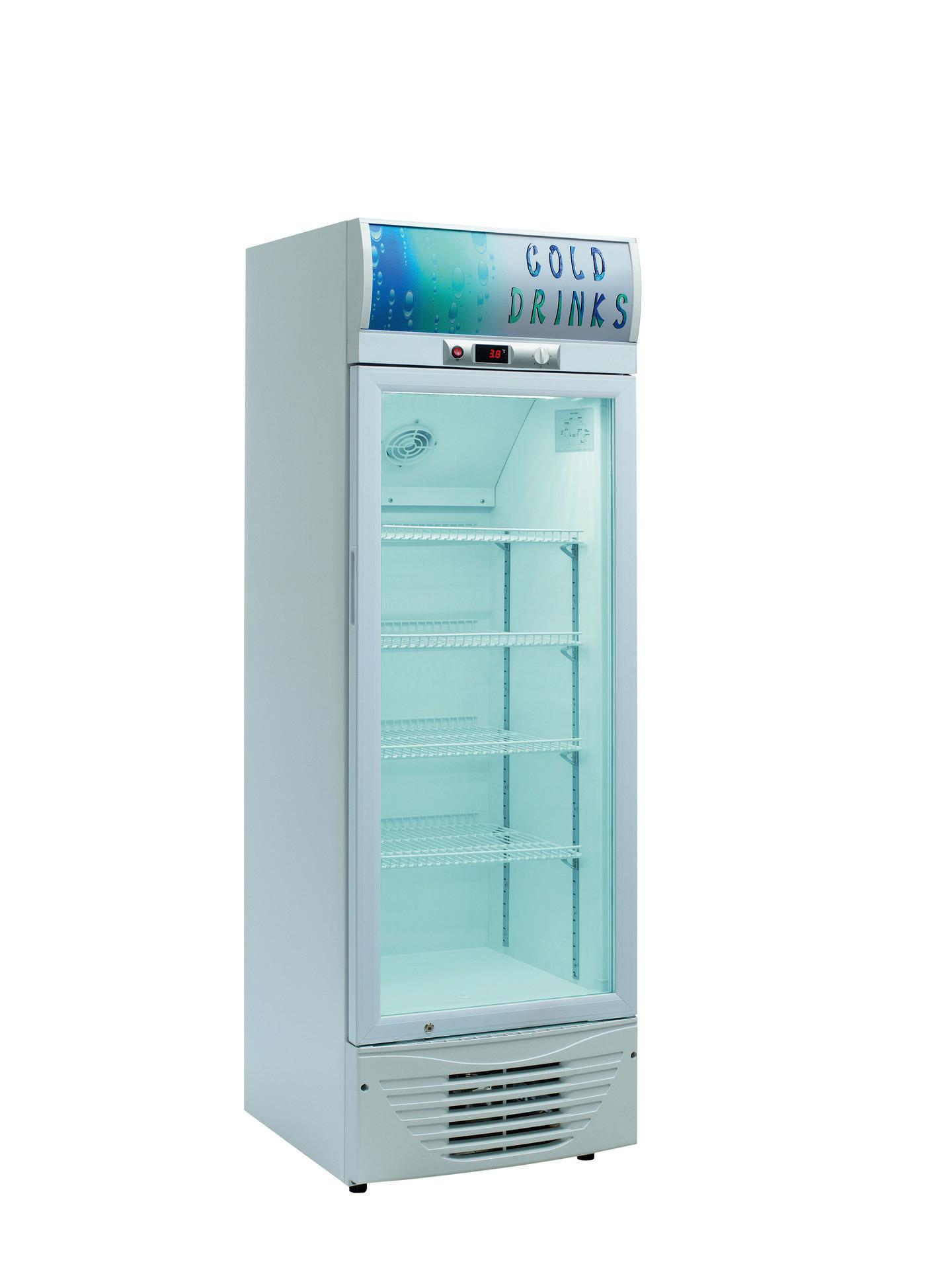 Flaschenkühlschrank Glastür 238 l 550 x 605 x 1770 mm