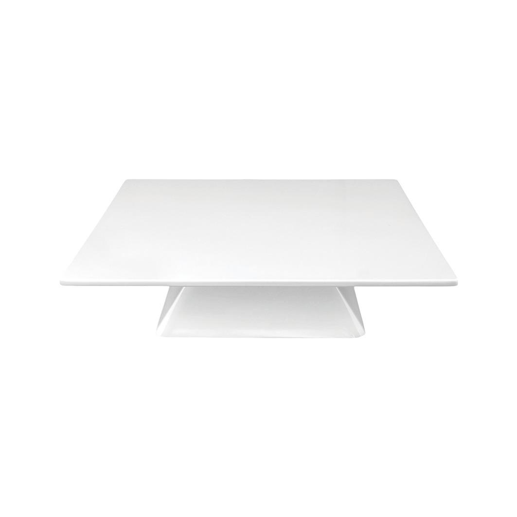 Ständer eckig pyramidenform 76 mm hoch weiß für quadratische Auflageplatte