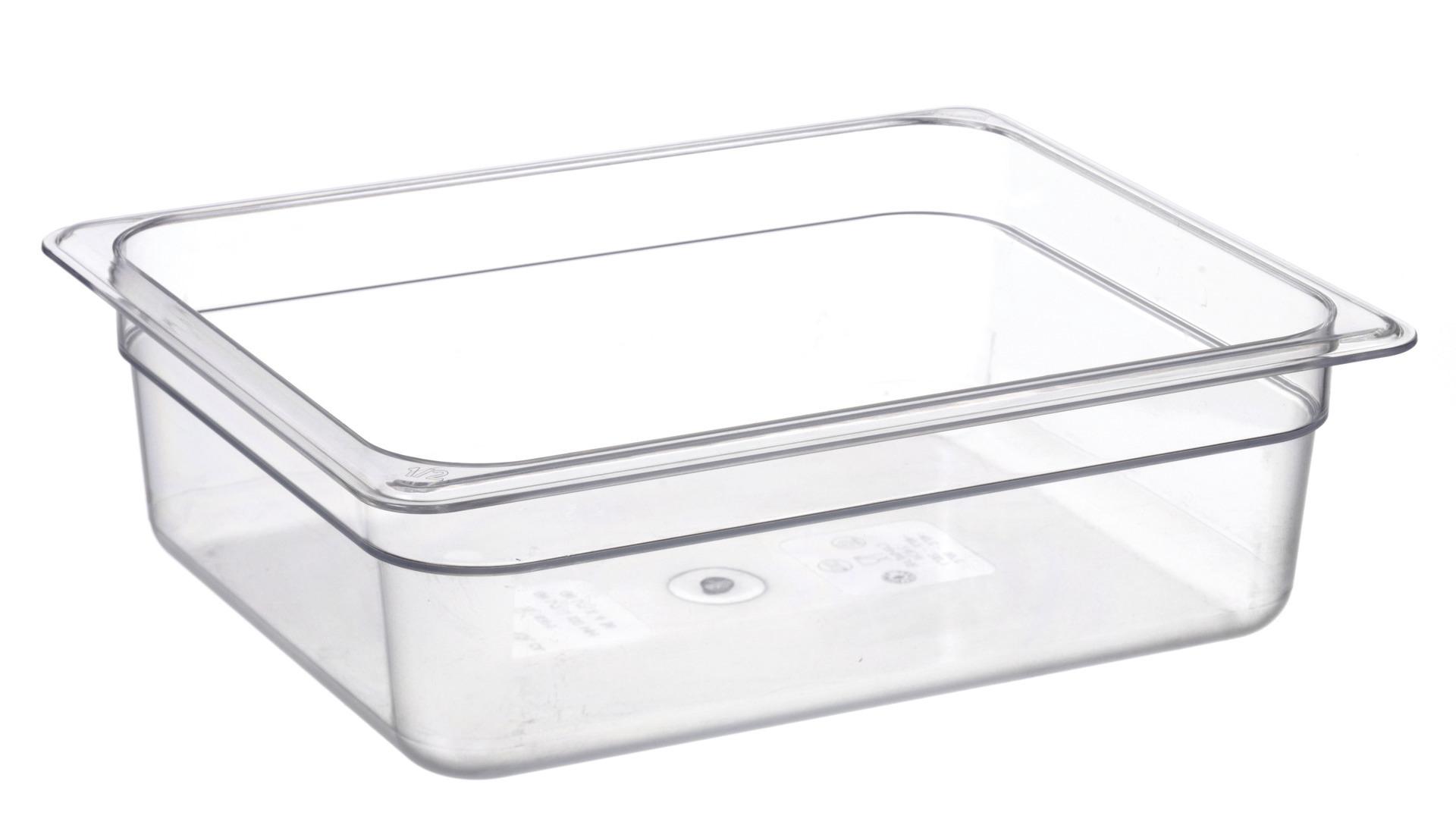 GN-Behälter GN 1/2 325 x 265 x 100 mm Polycarbonat transparent