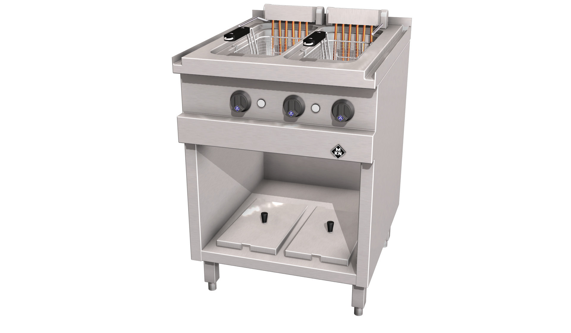 Elektro-Fritteuse 2 x 12,50 l /London II 12,00 kW /600 x 700 x 700 mm/Optima 700