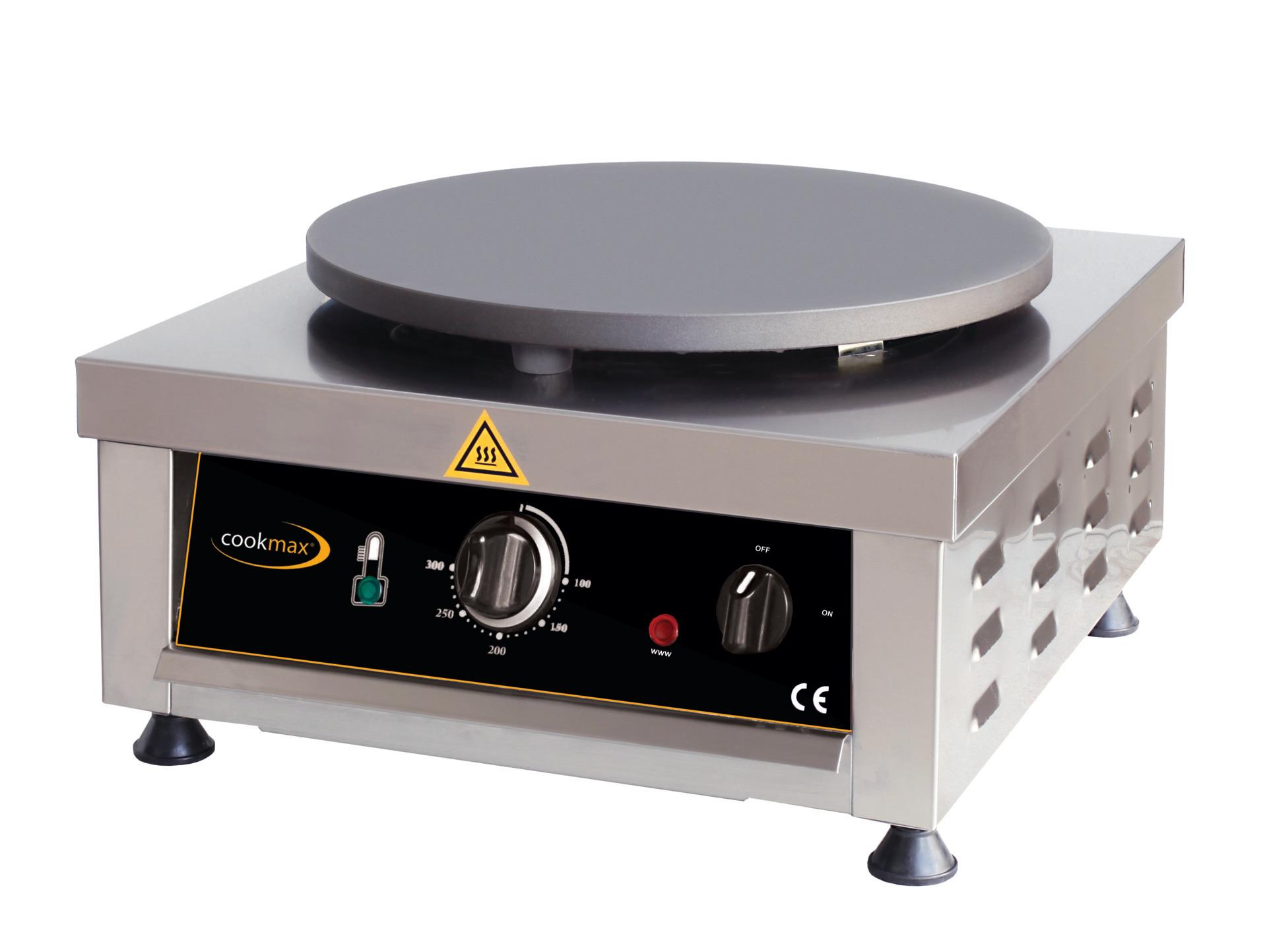 Elektro-Crepiere 1 Backfläche ø 400 mm / 500 x 450 x 220 mm