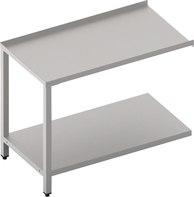 Ablauftisch mit Ablagebord 1100 mm breit