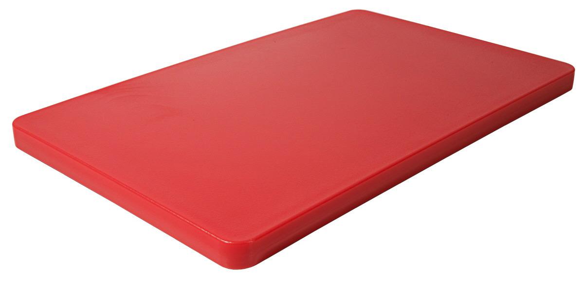 GN-Schneidbrett HACCP GN 1/1 530 x 325 x 25 mm mit Füßchen / rot