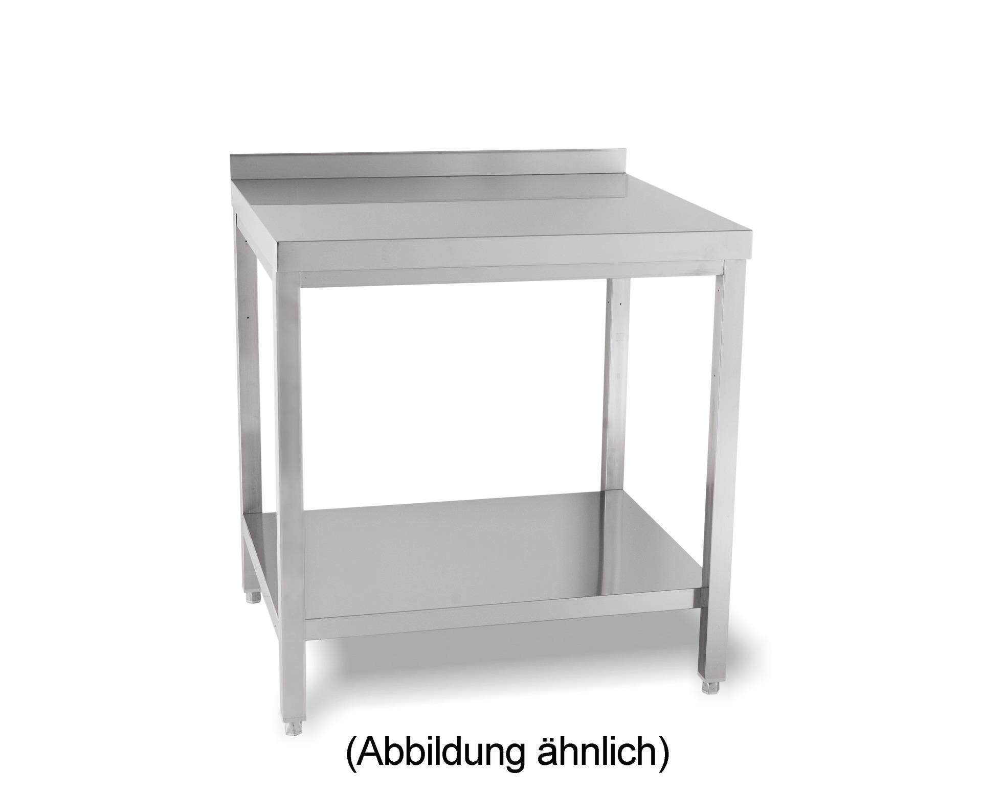 Arbeitstisch verschweißt mit Ablageboden mit 50 mm Aufkantung 1500 x 700 x 850 mm
