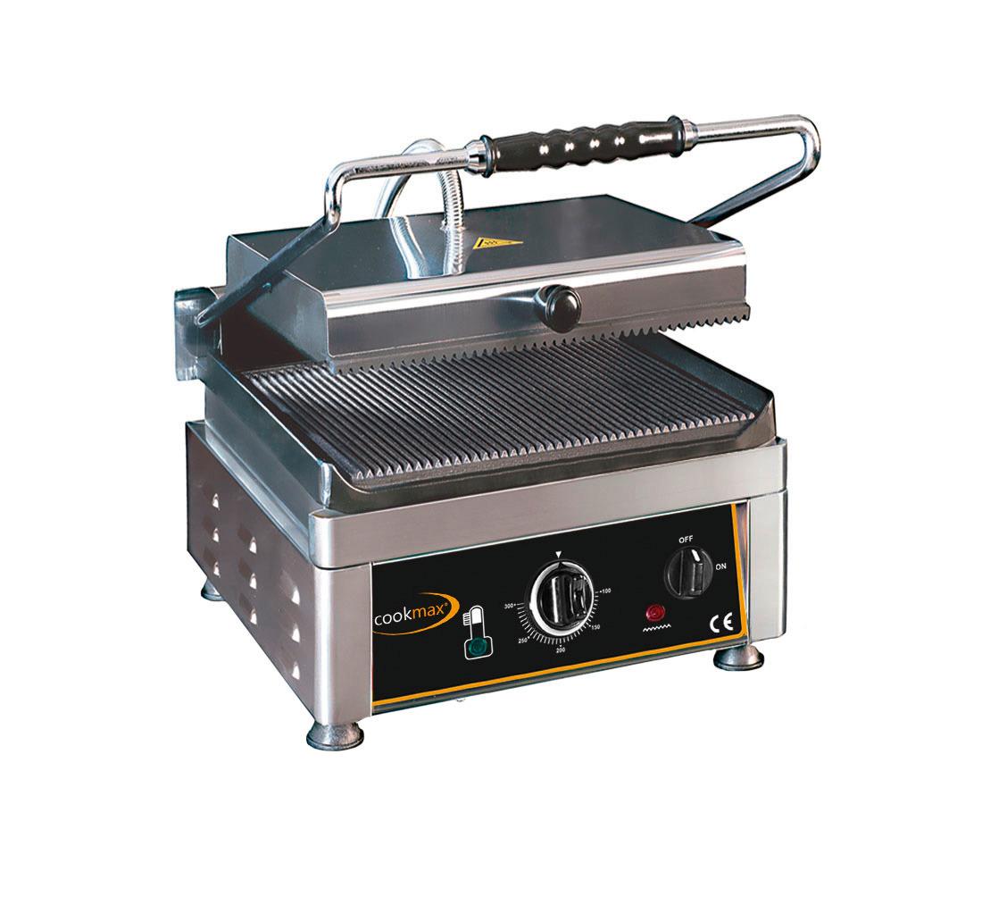 Elektro-Kontaktgrill oben + unten gerillt 280 x 280 x 300 mm