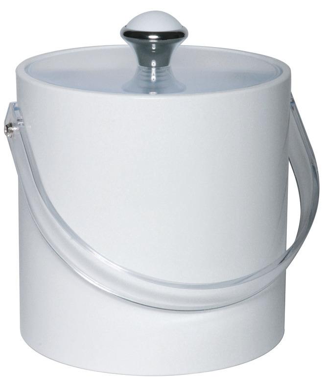 Eiseimer rund mit Eiszange 1,50 l Kunststoffmantel