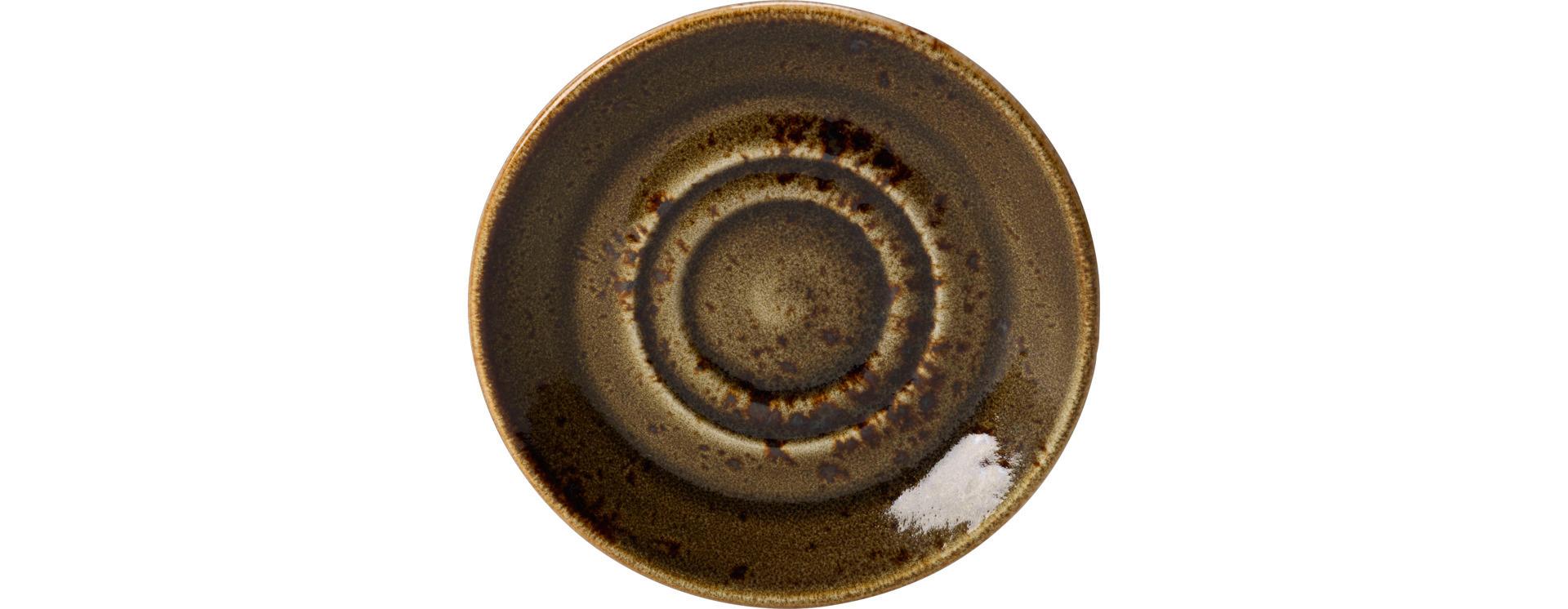 Kombi-Untertasse 145 mm braun