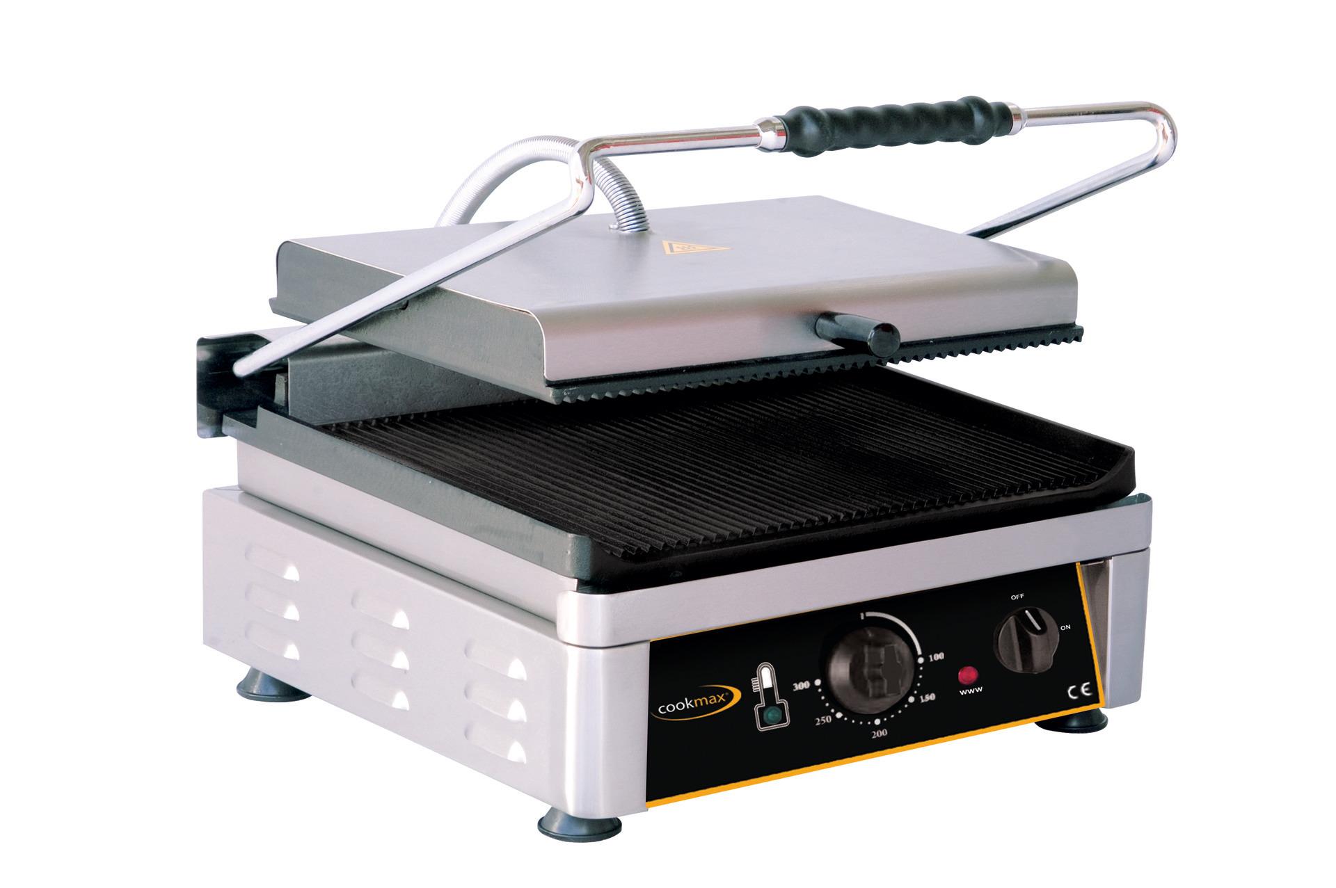Elektro-Kontaktgrill oben + unten gerillt 510 x 500 x 300 mm
