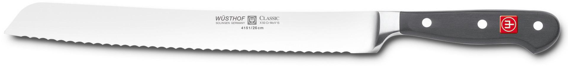 Brotmesser Klingenlänge 260 mm / 389 mm lang Wellenschliff