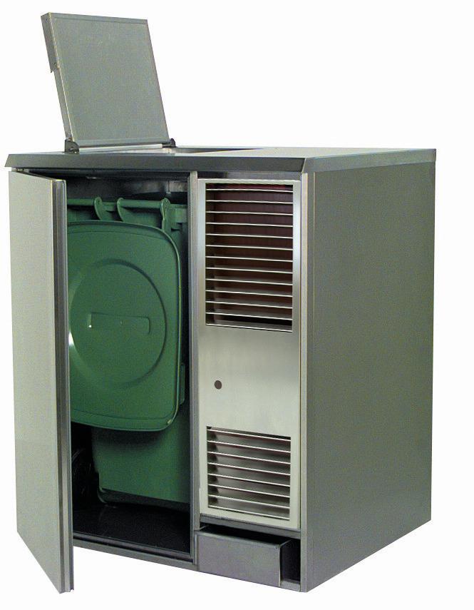 Abfall- / Konfiskatkühler für  1 x 120,00 l / steckerfertig