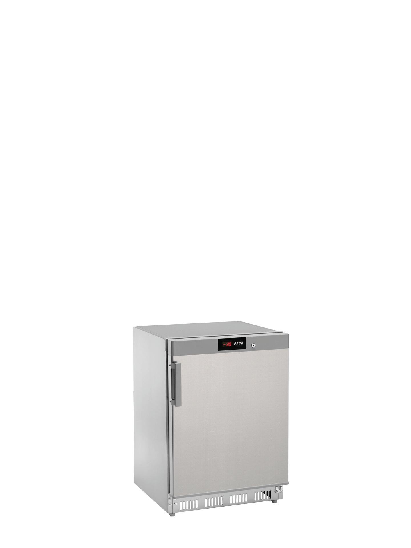 Tiefkühlschrank Edelstahl 140 l 600 x 600 x 855 mm