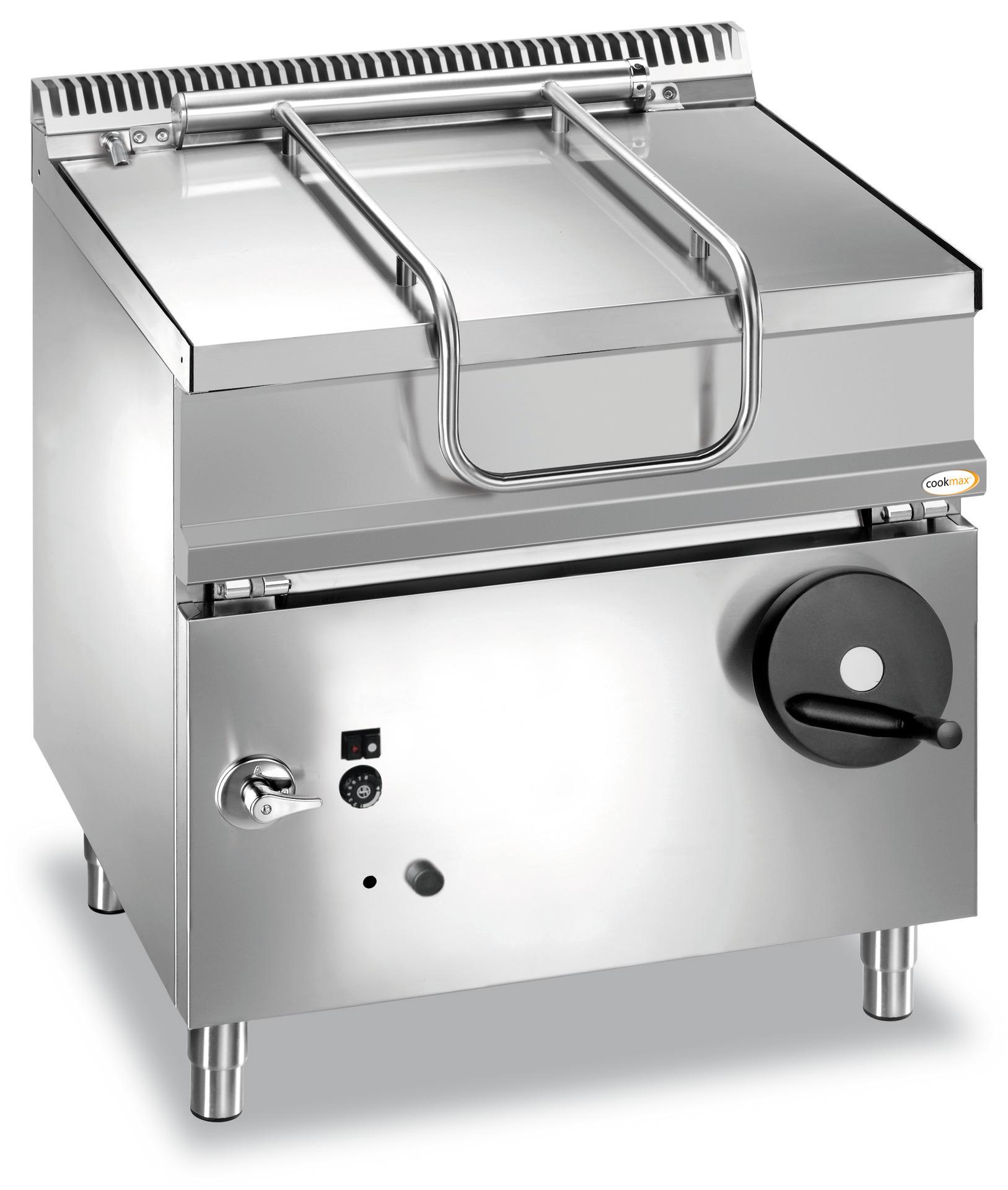 Gas-Kippbratpfanne 60 l manuelle Kippung 800 x 700 x 850 mm