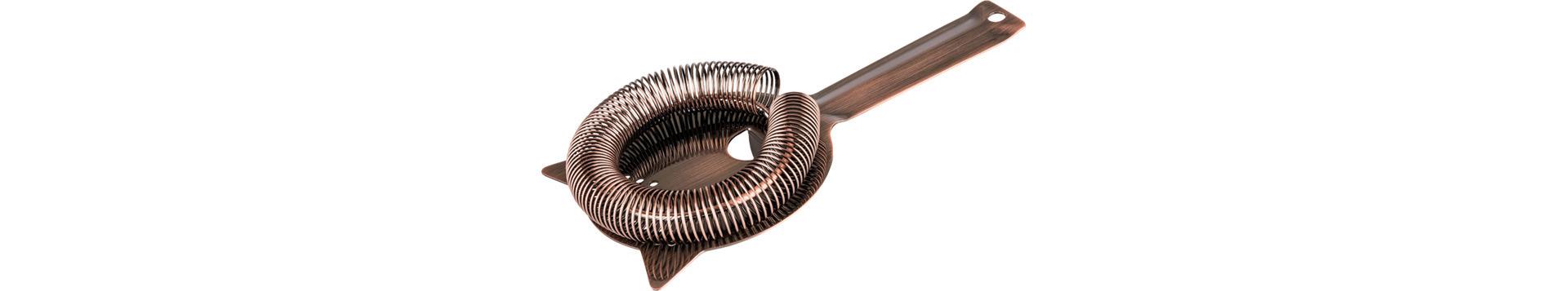 Barsieb 90 x 90 mm Griff 90 mm Edelstahl Antik-Kupfer-Look
