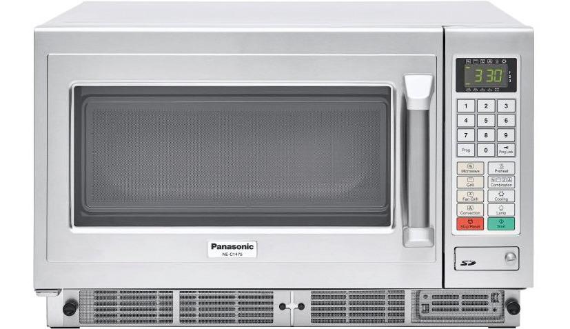 Panasonic-Mikrowelle NE-C1475 1350 W 30 l mit Tastenfeld 600 x 484 x 383 mm