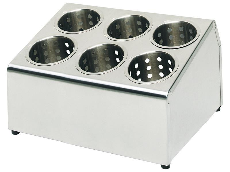 Besteckbehälter 6 Löcher ohne Köcher 375 x 300 x 200 mm matt poliert