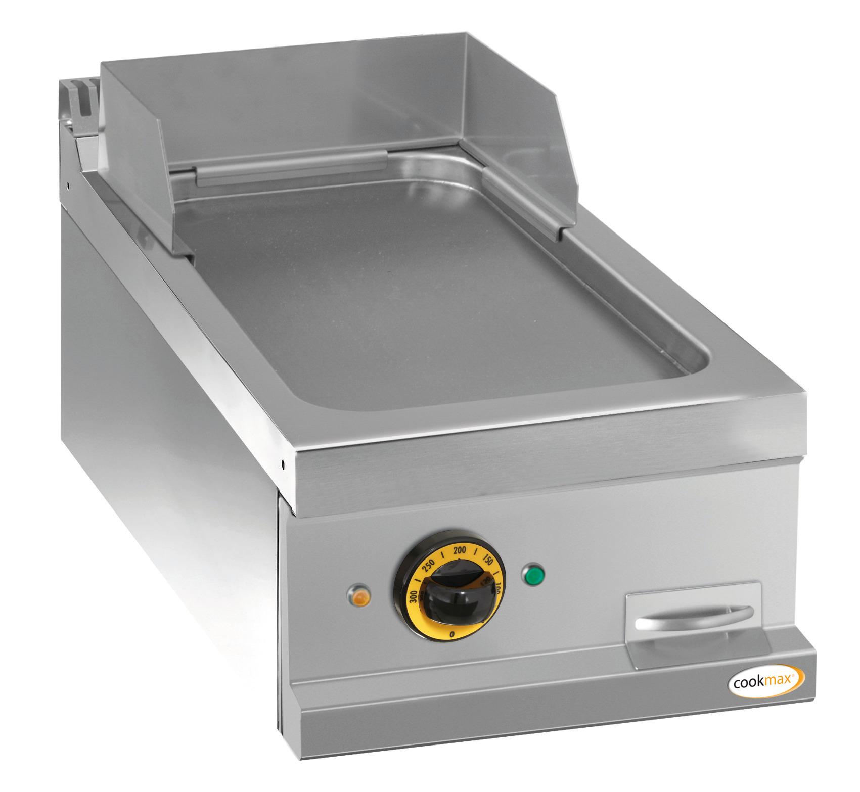 Elektro-Grillplatte glatt 1 Heizzone 400 x 700 x 250 mm