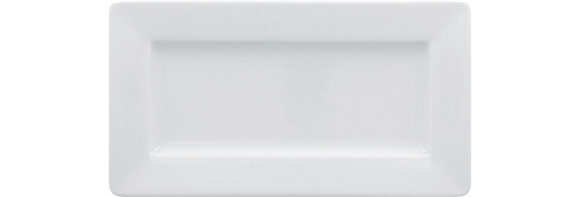 Teller rechteckig 240 x 130 mm bright-white