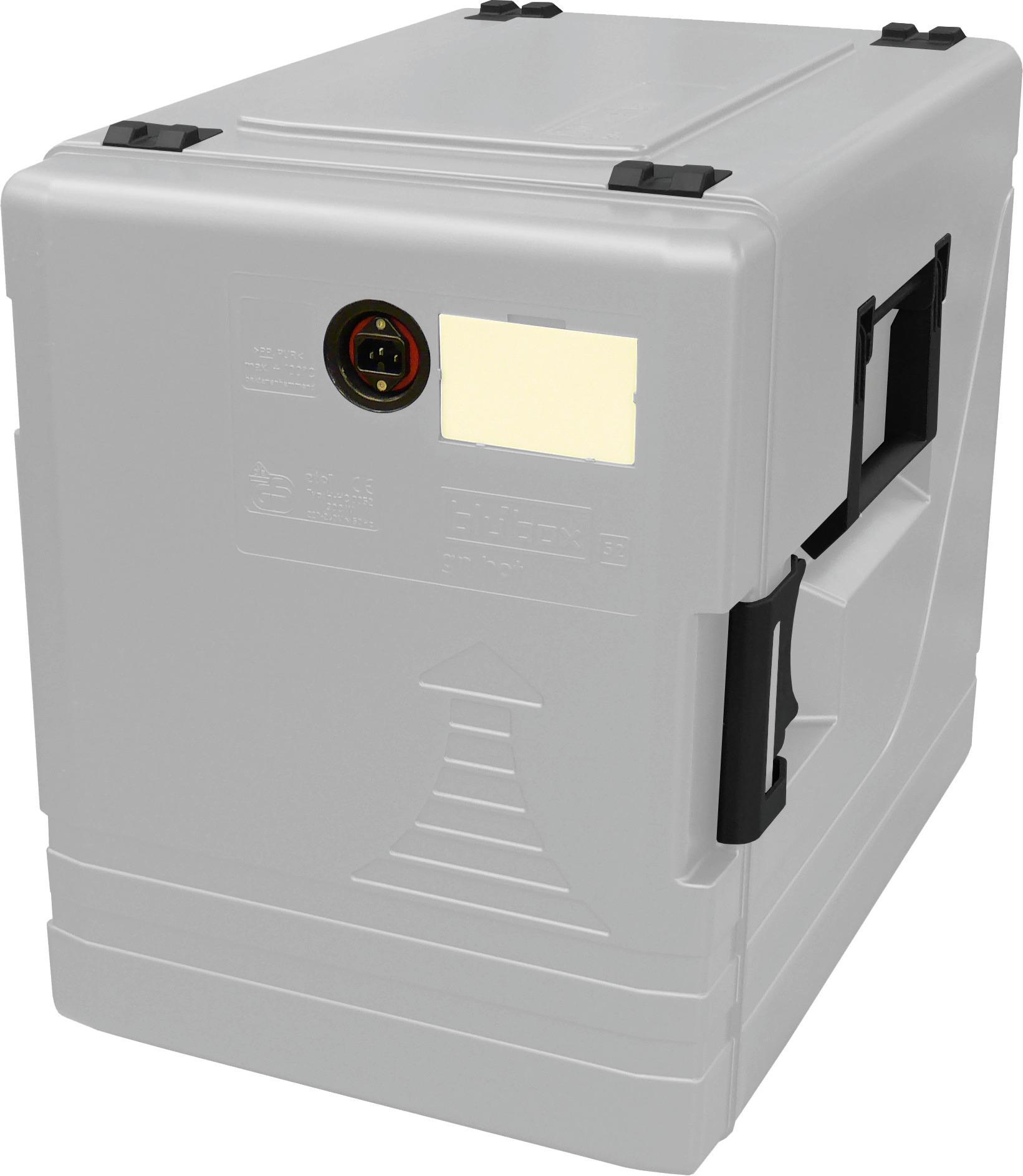 Transportbehälter 52 l beheizt lichtgrau 639 x 446 x 560 mm