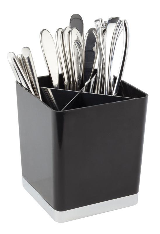 Tischreste- / Besteckbehälter 140 x 140 x 160 mm schwarz