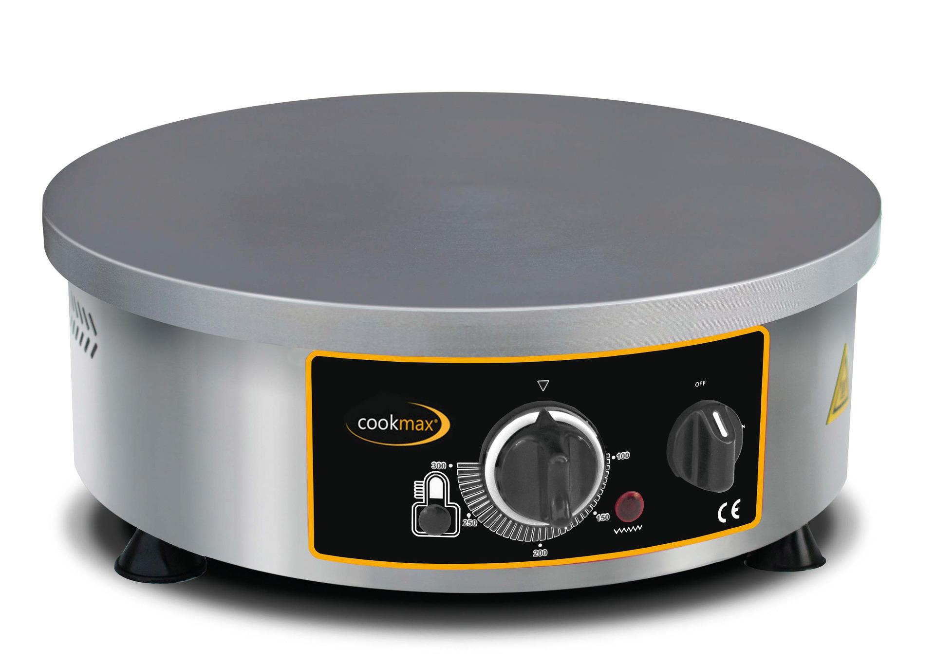 Elektro-Crepiere rund 1 Backfläche ø 400 mm / 400 x 400 x 150 mm