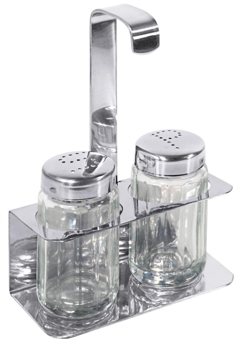 Salz- / Pfeffer-Menage 2-tlg. 100 x 65 x 150 mm hochglänzend