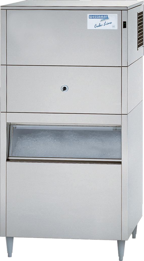Eiswürfelbereiter IC 135 ECL / 125 kg/ 24 h/ 130,00 kg Vorrat / Luftkühlung