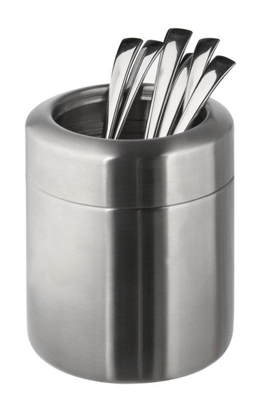 Tischreste- / Besteckbehälter 0,70 l / 100 x 100 x 120 mm matt poliert