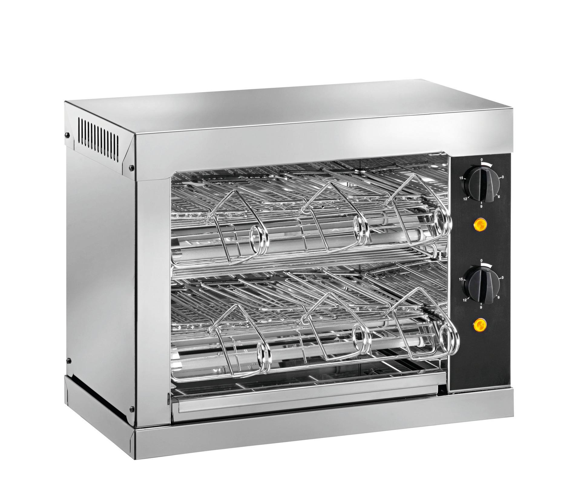 Toaster mit Timer 2 Heizebenen 440 x 240 x 380 mm