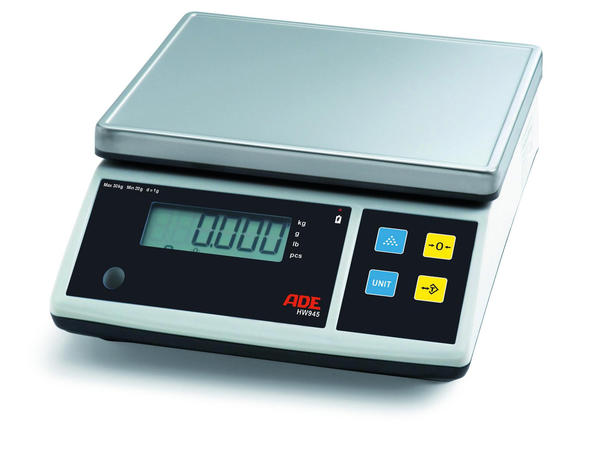 Elektronische Portionswaage bis 30 kg Netzbetrieb 260 x 310 x 125 mm