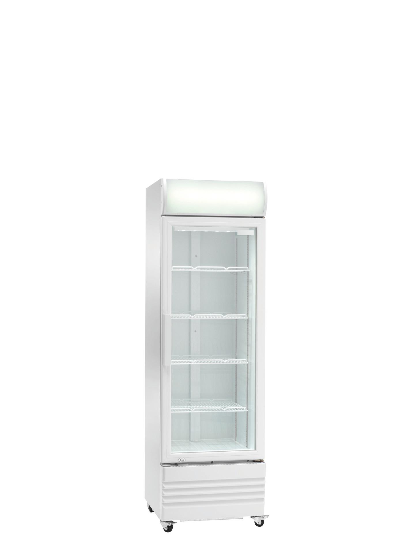 Flaschenkühlschrank Glastür 320 l 570 x 605 x 1820 mm