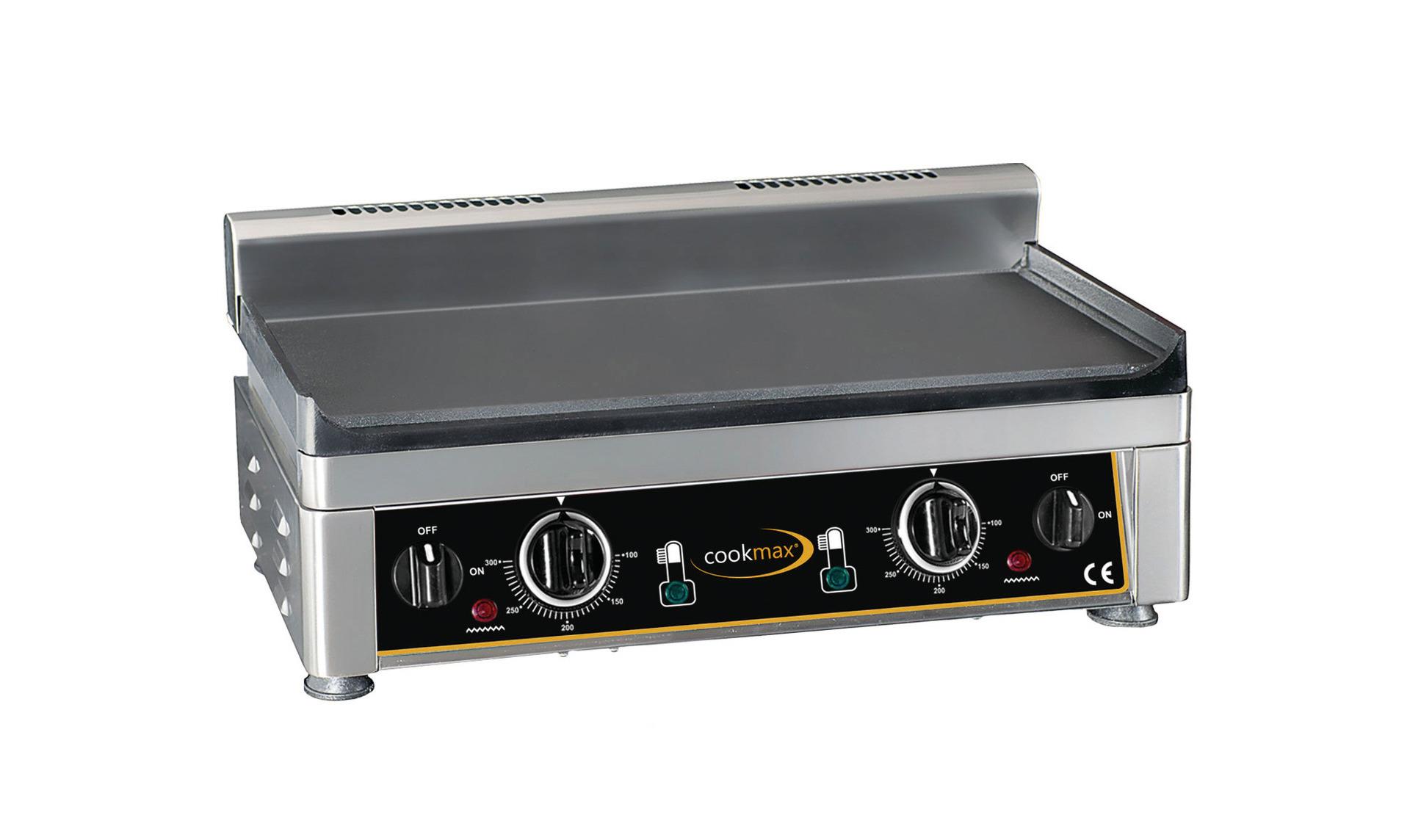 Elektro-Grillplatte glatt 2 Heizzonen 560 x 440 x 300 mm