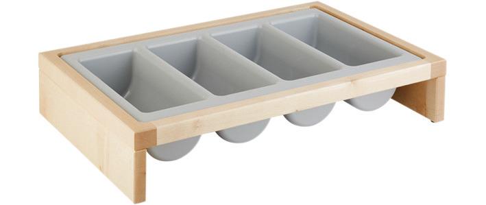 Besteckbehälter 2-tlg. 575 x 470 x 120 mm Ahorn
