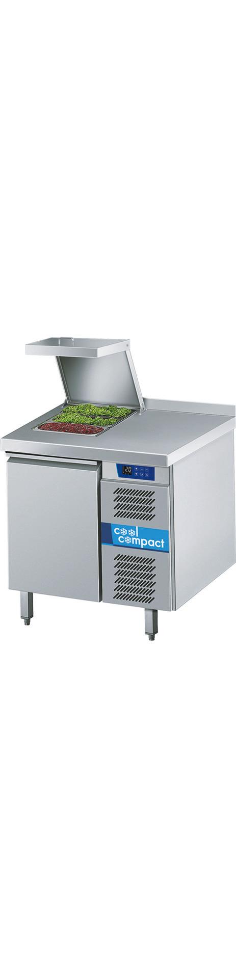Saladette 1 Tür je 10 x GN 1/1 /  mit Aufkantung hinten / zentralgekühlt