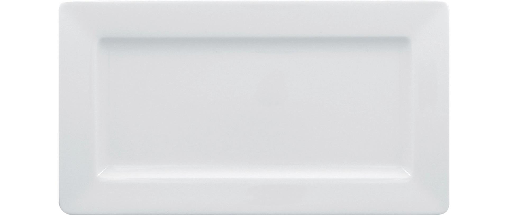 Teller rechteckig breit 295 x 160 mm bright-white