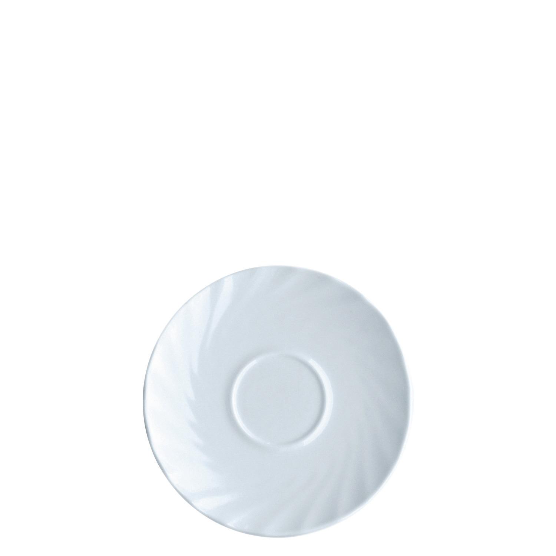 Untertasse 142 mm uni weiß