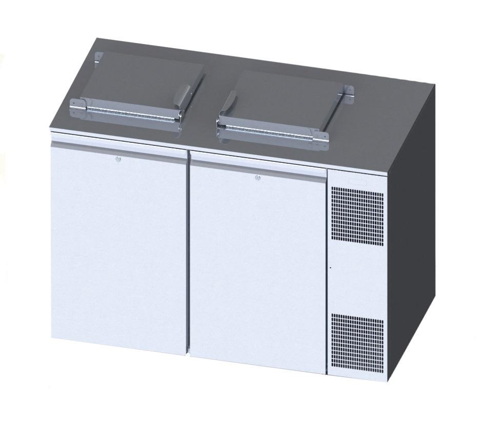 Konfiskatkühler für 2 x 120 oder 240 l Abfallkühler mit Winterheizung