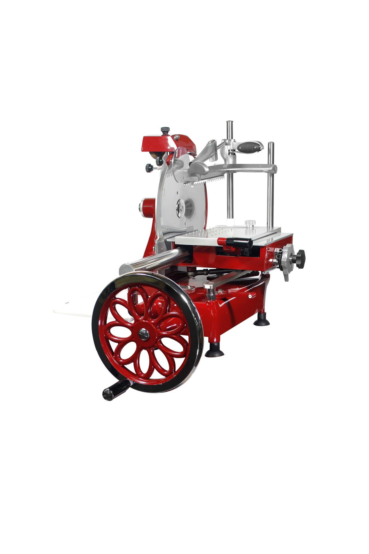Aufschnittmaschine manuell mit Blumenrad Messer ø 300 mm 600 x 720 x 740 mm