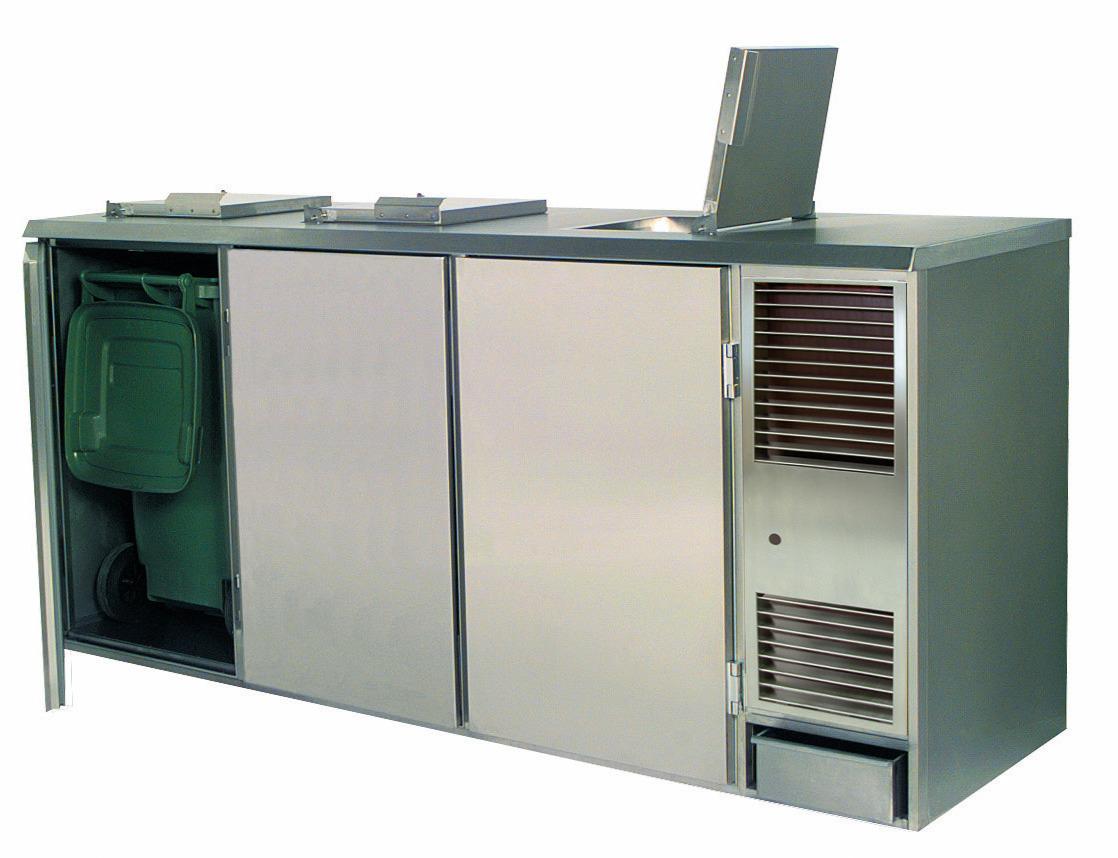 Abfall- / Konfiskatkühler für  3 x 240,00 l / steckerfertig