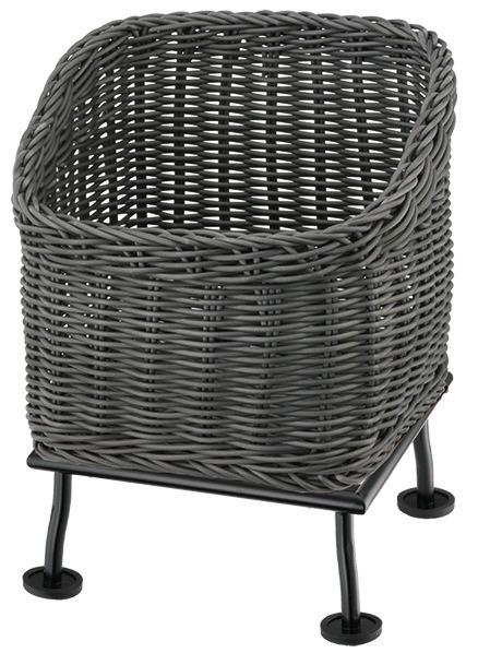 Brotkorb 330 x 330 mm 6,50 l grau /  mit M-Standfuß Black Steel