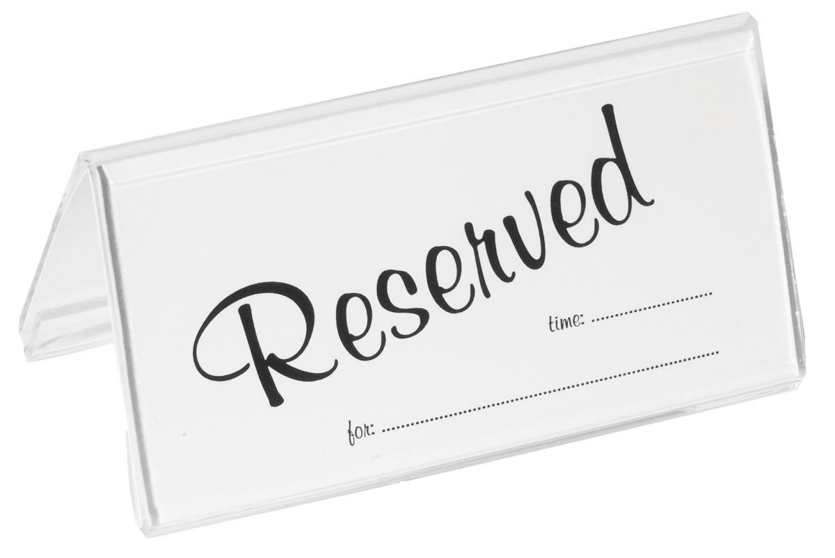 "Einschubkarten à 25 Stück ""Reserved""  passend zu Aufsteller 6783/100"