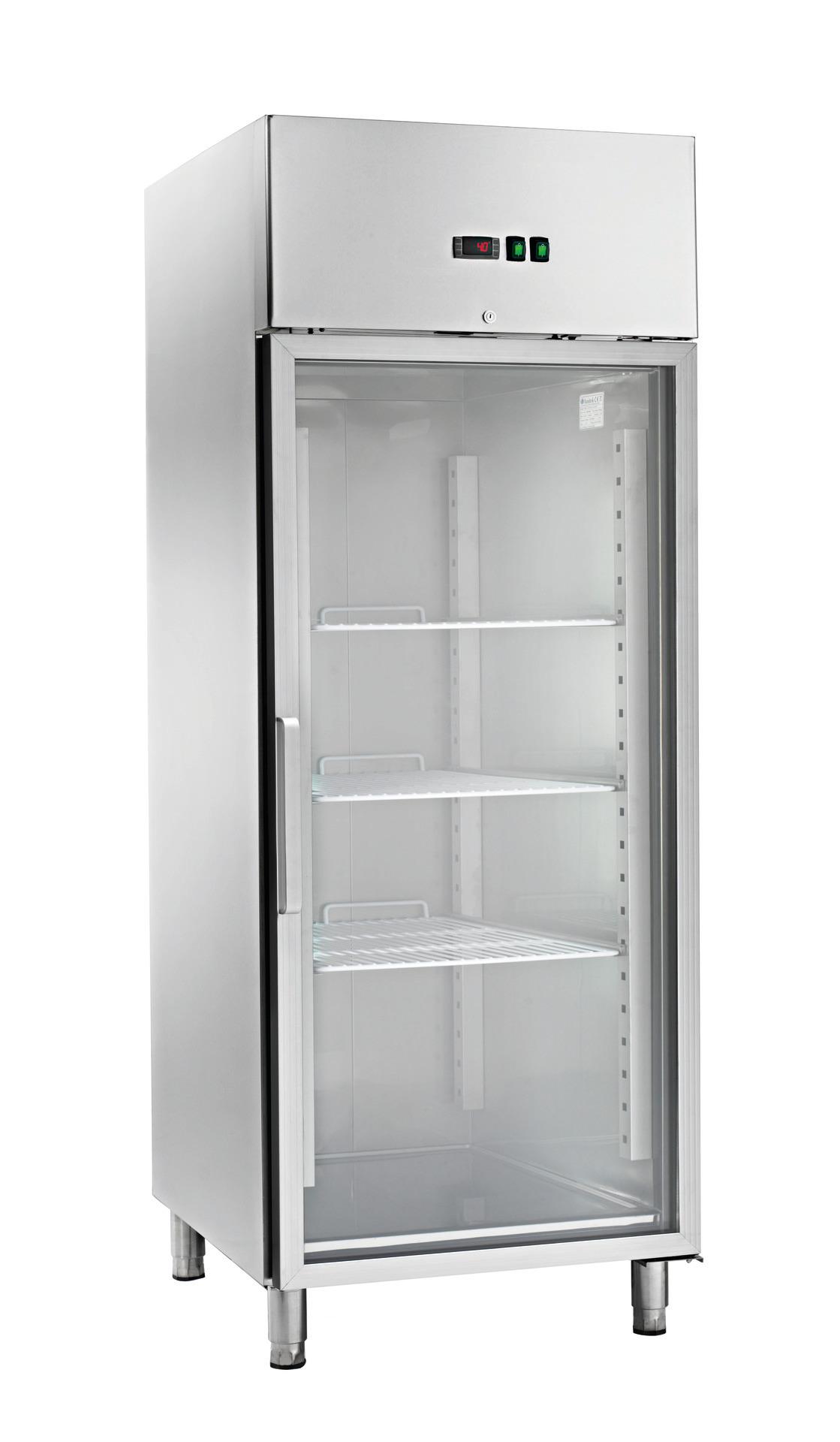 Umluft-Kühlschrank Glastür 700 l GN 2/1 740 x 830 x 2010 mm