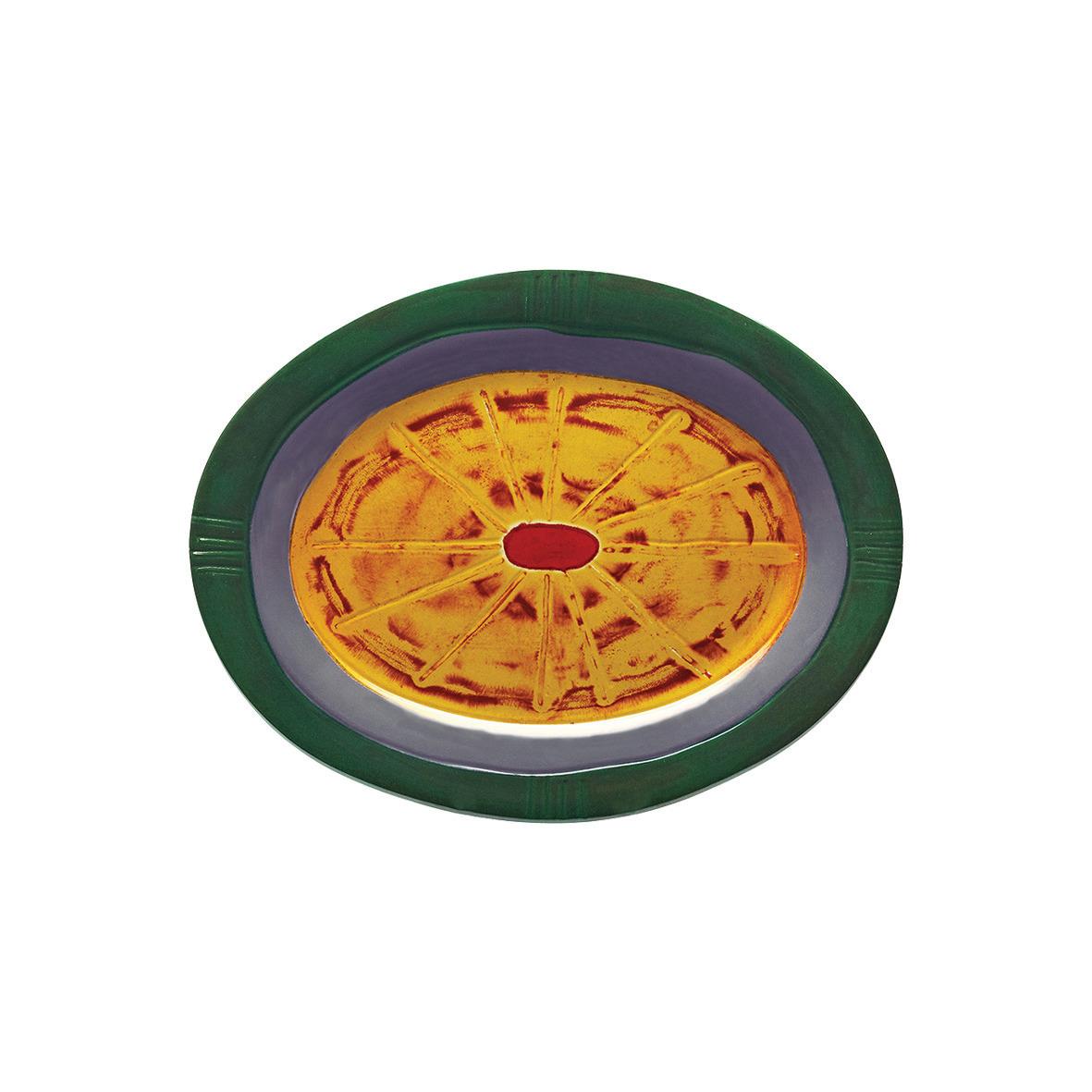 Platte oval 377 x 296 mm bunt