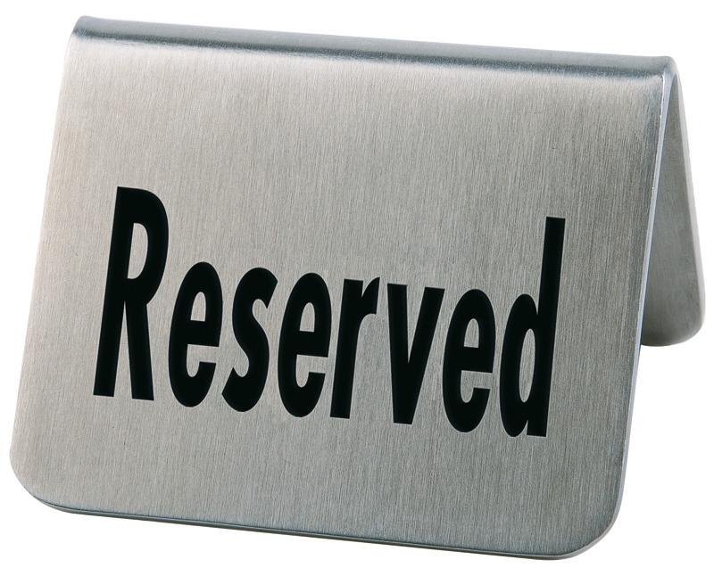 Tischaufsteller Reserved 2er Set 55 x 50 x 35 mm