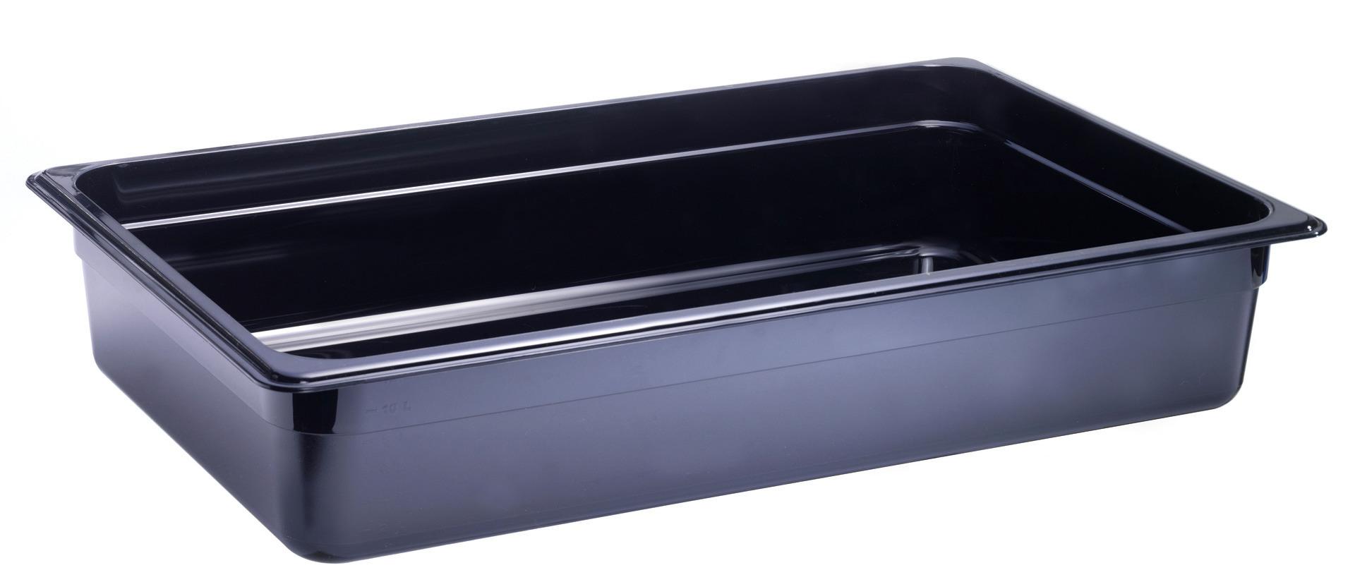 GN-Behälter GN 1/1 530 x 325 x 100 mm Polycarbonat schwarz