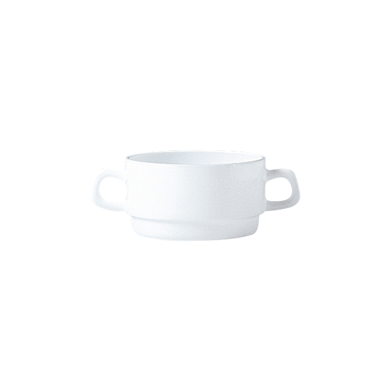 Suppentasse mit 2 Henkel stapelbar 102 mm / 0,32 l uni weiß