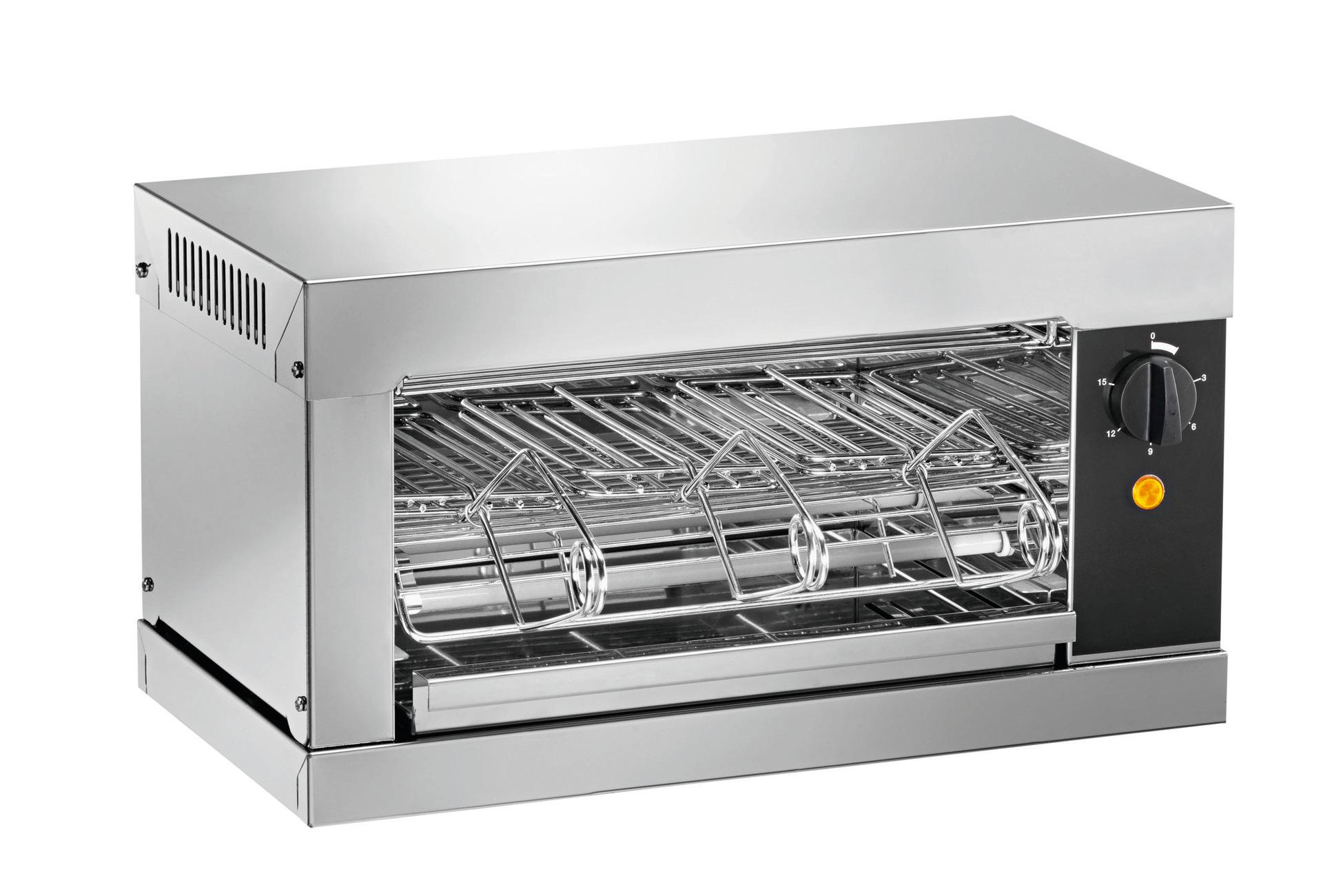Toaster mit Timer 1 Heizebene 440 x 240 x 250 mm