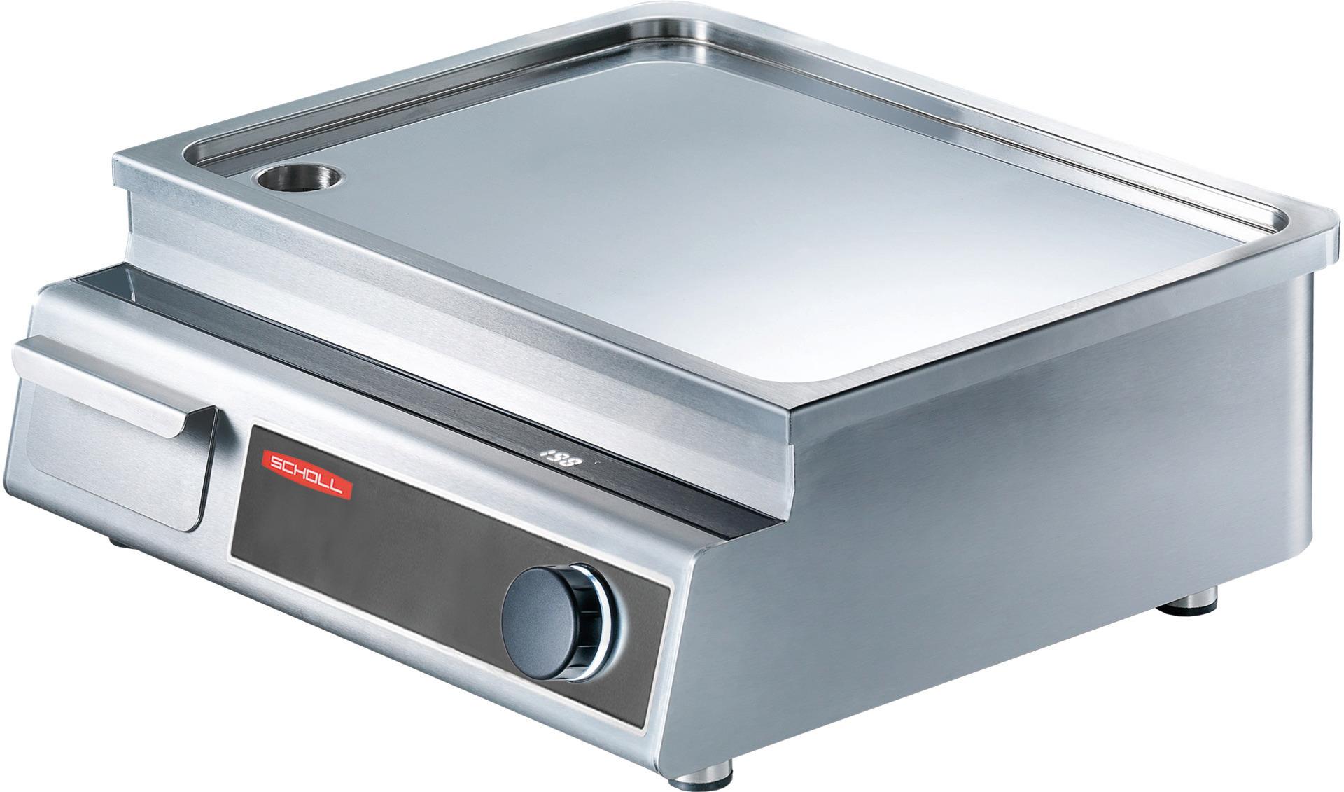 Induktions-Griddleplatte glatt / 1 Heizzone / 5,00 kW / 531 x 493 x 356mm